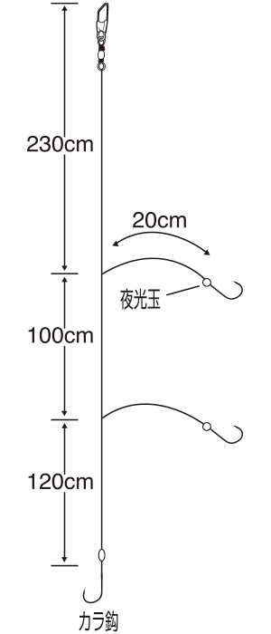特選 イサキ から鈎 4.5m