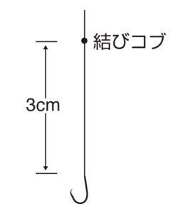 実船アスリートカワハギ24本鈎3cm(TCフッ素コート)