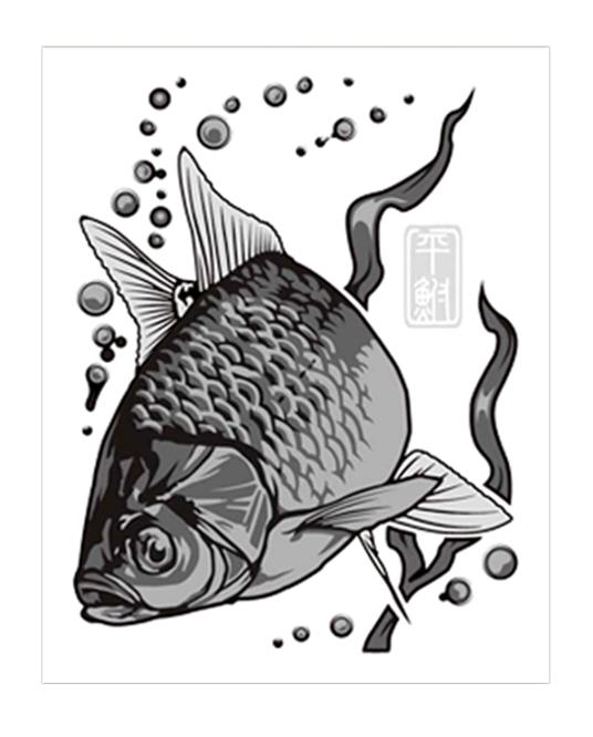 大漁祈願 蒔絵シール(シルバー)
