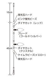 特選 タコエギブレード集寄(ケイムラ)